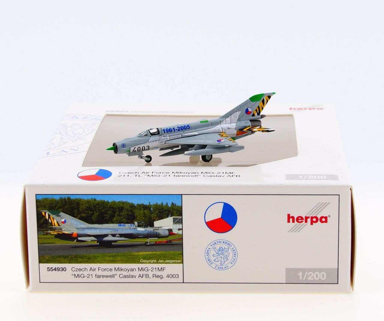 Herpa 1:200 552400 3rd Fighter Airbase Mikoyan mig-21mf Bulgarian Air Force